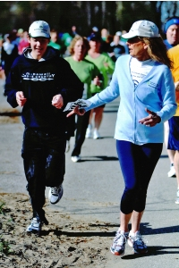 Maureen and Ryan running