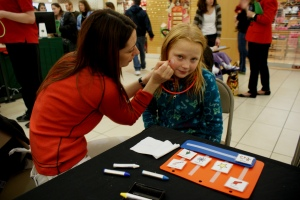 Children at the event were able to have their face painted, as well as create a holiday craft while they waited to visit Santa. Information and resources were available for parents.