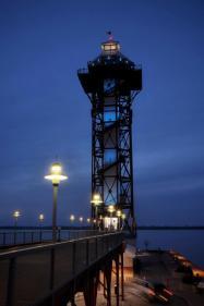 light it blue erie bicentennial tower