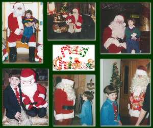 Ryan and Santa collage