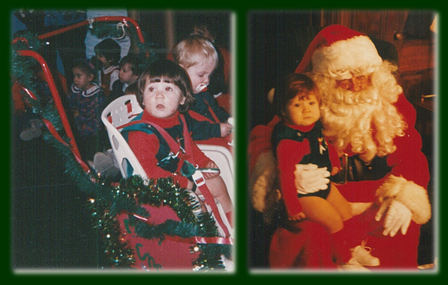 Ryan's 1st Christmas Play & Santa Collage