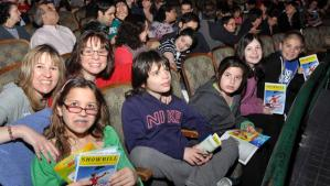 Families attend an autism-friendly performance on April 29, 2012 in this photo released by the Theatre Development Fund.