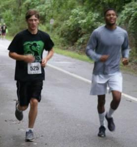 Ryan running in last week's Beast on the Bay Adaptive Course.