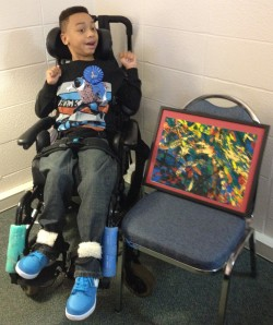 ELBS student Todd Harvey won first place with his masterpiece using A.R.T.