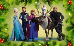 frozen_characters_holiday_wallpaper_by_babybear_lovesfrozen-d6wetq7