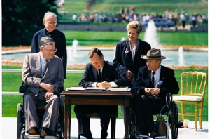 President Bush signs the historic ADA.