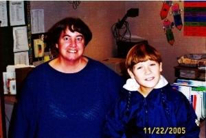 Ryan and his 6th grade teacher, Mrs. Newsham.