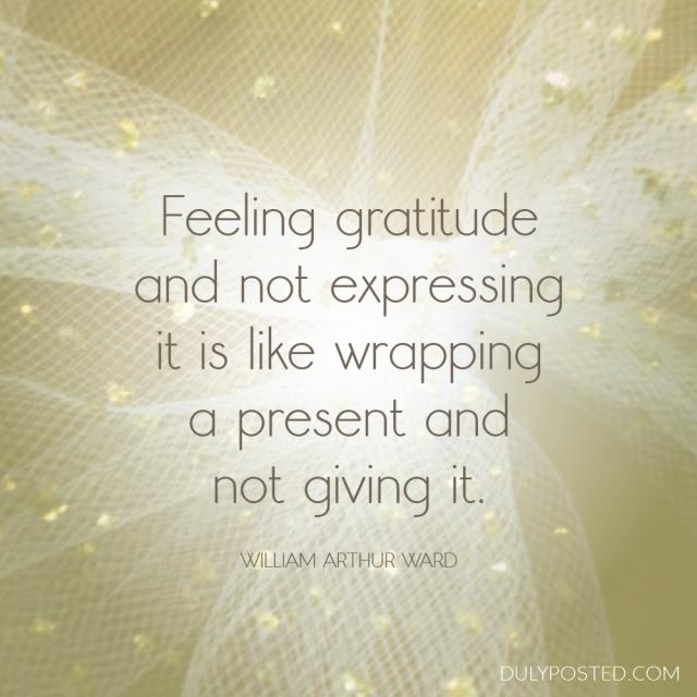 gratitude present